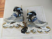 Ultra Wheels Bio Fit Rollerblades Women's Inline Skate Size 9 Us blue gray