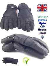 ski gloves thermal fleece lined black magic gripper glove winter warm work bike