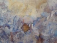 DORSET  ROOFTOPS LISTED ARTIST MICHAEL LAWRENCE CADMAN  FREE SHIPPING TO ENGLAND
