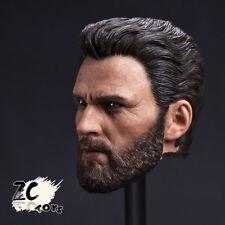 ZC TOYS 1:6 Scale Captain America Chris Evans Male Beard Head Sculpt F 12'' Toy
