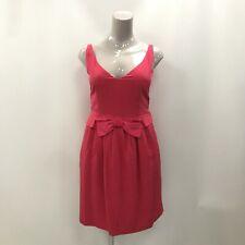 Moschino Cheap & Chic A-Line vestido de mujer tamaño UK 14 Pink Bow Seda Mezcla 031288
