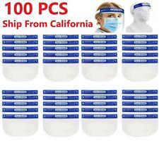 100PCS Safety Full Face Shield Reusable Protection Cover Face Eye Cashier Helmet