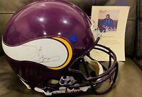 NFL QB Daunte Culpepper Autographed Minnesota Vikings Riddell F/S Helmet w/ COA
