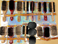 Pick 1 Annie Beard Brush Wooden Hard Soft Boar Bristle Wave Club Military Comb