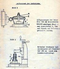 Pfauter RS00 Zahnradfräsmaschine Wälzfräsmaschine Bedienungsanleitung