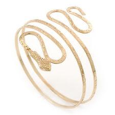 Gold Plated Hammered Snake Upper Arm, Armlet Bracelet - up to 27cm upper arm
