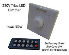 Triac 220V LED Dimmer Schalter Wandeinbau Controller 150W Fernbedienung Hochvolt