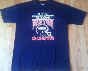 Vintage 1986 NEW YORK GIANTS SUPER BOWL XXI shirt XL NFL football 80s paper thin