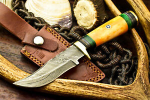 Cutlery Salvation Custom Handmade Damascus Blade Hunting Knife  Camel Bone