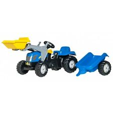 Rolly Toys New Holland T 7550 Trattore Con Rimorchio a Pedali caricatore