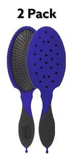 2 Pack Wet Brush Backbar Detangler W/ Aqua Vent - Blue