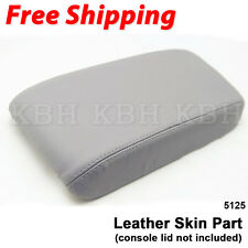 Fits 06-11 Honda Civic Leather Console Lid Center Armrest Cover Skin Gray