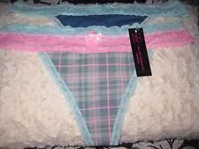 NWT jr. NO BOUNDARIES 2 pair multi-color cotton blend THONG panties sz L