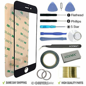 Apple iPhone 7 Replacement Screen Front Glass Repair Kit Tools BLACK