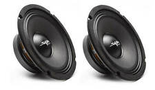 (2) NEW SKAR AUDIO FSX8-4 8-INCH 4 OHM 350W MAX CAR PRO AUDIO SPEAKERS - PAIR