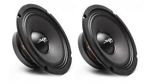 (2) NEW SKAR AUDIO FSX8-4 8-INCH 4 OHM 350W MAX CAR PRO AUDIO SPEAKERS - PAIR