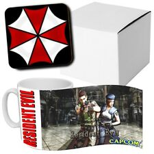 Resident Evil PS1 PlayStation Game - Horror - Coffee MUG + Wood Coaster - Gaming