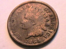 1864 Nice Good Toned Indian Head Bronze Cent G One Small Penny US Coin