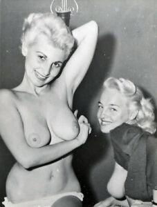 Vintage Photo 8.5x11 #17906  Busty Lovely 1950s Donna Brown & Bobbi Reynolds