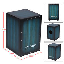 More details for ammoon hand drum wooden box drum cajon instrument for band accompaniment d4n8