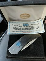 Zippo Lock Blade Pocket Knife Stainless with Box - Advertising ARMCO Coshocton