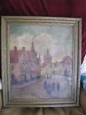 "GORGEOUS ANTIQUE PAINTING ""YPRES 1915"" BY TH. DE BELIC"" - NEEDS CLEANING"