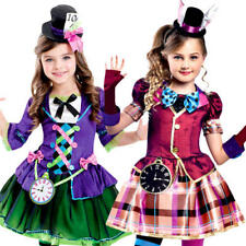 Mad Hatter Girls Fancy Dress World Book Day Fairy Tale Wonderland Childs Costume