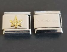 Gold Cannabis Leaf Italian Charm Link + 1 Nomination Bracelet Charms Link Charm