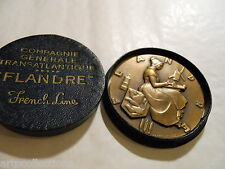 MEDAILLE BRONZE PAQUEBOT FLANDRE FRENCH LINE