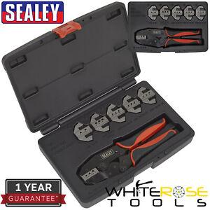 Sealey Deutsch Connector Plier Set Kit 7pc Ratchet Crimping Tool DT DTP DTM