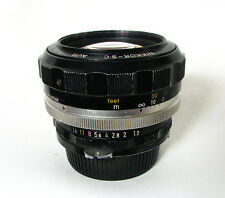 Nikon Nippon Kogaku Nikkor-S.C Auto 55mm 1:1.2 Super Fast Lens