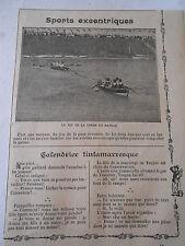 Sports Excentriques Le Jeu de la corde en Bateau Image Print 1909
