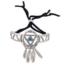 Lux Accessories Burnish Silver Dream Catcher Navajo Bracelet