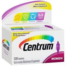 2 Pack Centrum Women's Multivitamin/Multimineral Supplement 120 Tablets Each