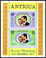 AT038 ANTIGUA 1973 Wedding Princess Anne & Mark Phillips S/S Mint NH