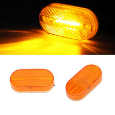 4x Amber Clearance/Marker Side Light w/Removable Lens RV Trailer Truck Camper