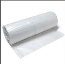"Clear Plastic Bags Heavy Duty 40 Micron 800 x 1450 x 2490mm 100 Bags 31""x57""x98"""