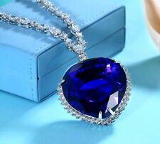18k GF Large blue Crystal Heart of the Ocean Titanic Necklace original version
