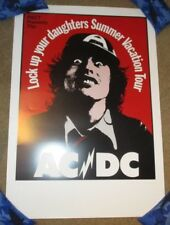 Acdc concert gig poster print Lock Up Your Daughters Summer Vacation tour ac/dc