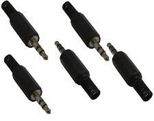 Lot de 5 Jack fiche connecteur stéréo 3.5mm mâle pour câble cordon