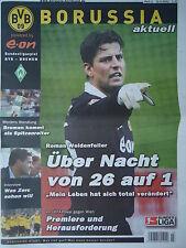 Programm 2003/04 Borussia Dortmund - Werder Bremen