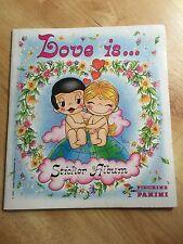 VERY RARE 1970 PANINI STICKER ALBUM LOVE IS.... 49 OF 180 STICKERS