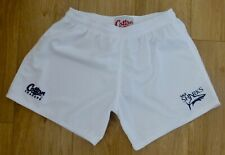 """SALE SHARKS RUGBY-Sports/Rugby/Gym Shorts-Performance Fabric-Logo-WHITE-36""""Waist"""