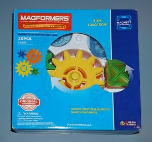 Magformers 20 Piece Magnets in Motion Gear Accessory Set - - New Sealed