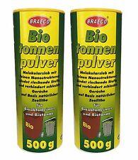 2x500g Biotonnenpulver Mülleimer-Pulver Madenvernichter, gegen Maden Abfalltonne