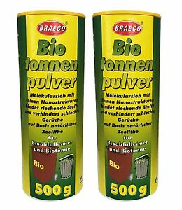 2x500g Biotonnenpulver Mülleimer-Pulver Vorbeugen gegen Maden Abfalltonne