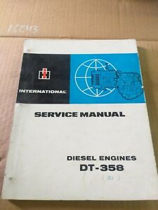 USED TRACTOR D-358 DIESL ENGINE SERVICE MANUAL