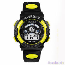 Mens Military Watch Sport Watch Backlight Quartz Chronograph Silicone Wristwatch