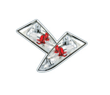 Ford Focus MK1 1998 - 2005 Hatchback Chrome Lexus Tail Lights - 1 Pair