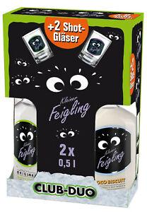 Behn Kleiner Feigling CLUB-DUO 2 x 0,5 l Flaschen + 2 Shot Gläser Coco Bisquit